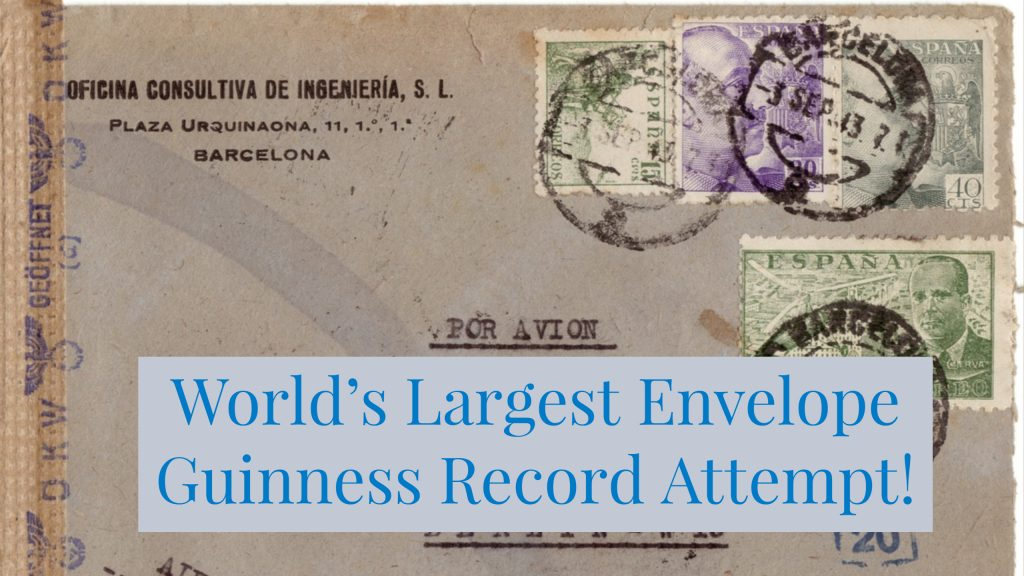 Guinness World Record Attempt to create World's Largest Envelope.